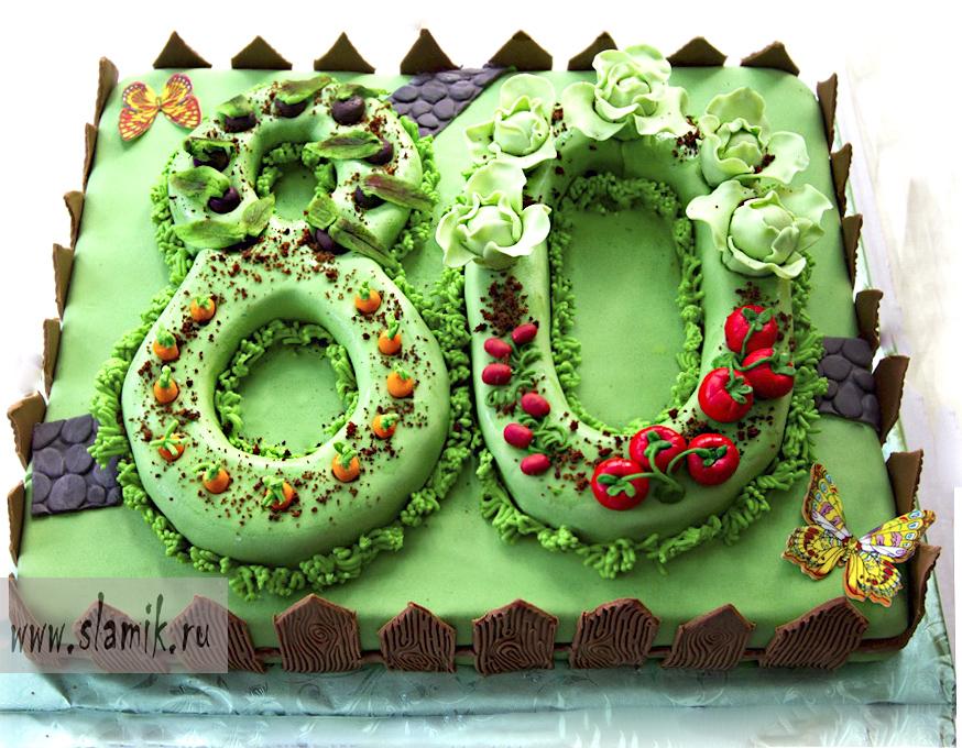 Торт к 80 летию фото
